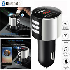 Bluetooth Car FM Transmitter Radio Adapter USB Charger MP3 Player Quick Charge