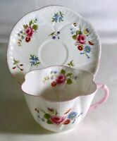 Shelley Rose, Pansy, Forget Me Not Cup And Saucer