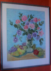 Original Norma Lewis   Floral Still Life  Watercolour    GORGEOUS!
