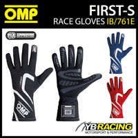 IB/761E OMP FIRST-S ENTRY LEVEL RACE RALLY GLOVES FIREPROOF FIA APPROVED