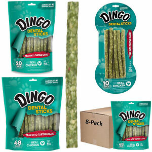 Dingo Tartar and Breath Dental Sticks Dog Teeth Cleaning Chews Made With Chicken
