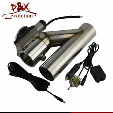 """3"""" Electric Exhaust Catback Downpipe Cutout Valve System + Switch Controller Kit"""
