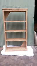 NEW SOLID WOOD RUSTIC CHUNKY WOODEN BOOKCASE BACKLESS MADE TO MEASURE