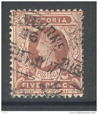 VICTORIA, 1905 5d dull reddish brown (wmk Crown over A) VFU (SG422a) (D)