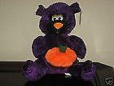 Kellytoy Stuffed Plush Purple Halloween Teddy Bear NEW NWT Ugly Tacky Weird