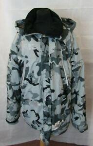 Armadillo Scooter Wear Camo Jacket Body Armour XXL Reflective w Removable Hood