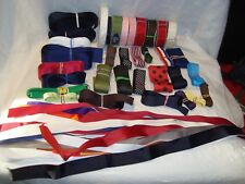 "Large/Huge Lot of Grosgrain Ribbon for Bows & Trim--Narrow to 1 1/2"" wide"