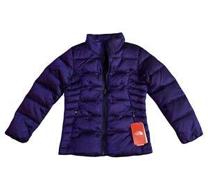North Face Girl's Size L(14/16) Purple Mock Neck Aconcagua Down Jacket