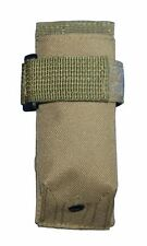 Tan MOLLE Tactical Flashlight Holder Pouch For Duty Belt or Carabiner