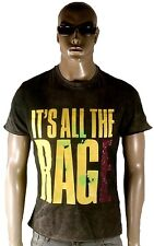 Amplified it 's All the Rage Rock Star Vintage Strass BLEACHED Party T-shirt G.M