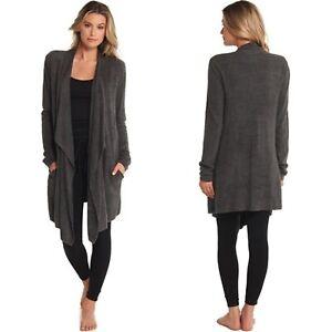 Barefoot Dreams Cozy Chic Lite Island Wrap Cardigan Size 1X Carbon Gray New