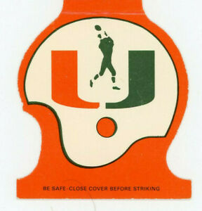 Vintage Football Schedule Matchbook Cover Miami Hurricanes