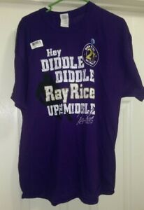 Gildan NWT Mens Womens Baltimore Ravens Ray Rice Up The Middle T Shirt Top XL