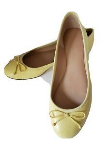 Banana Republic Ballet Flats Shoes Yellow size 7.5 NEW