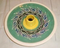 Ikebana Ware Studio Pottery Japanese Flower Arranging Plate w/Center Frog Vtg
