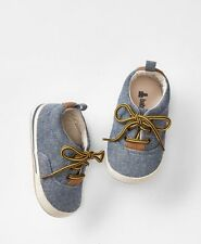 GAP Baby Boys Size 6-12 Months Blue Denim Chambray Shoes Sneakers