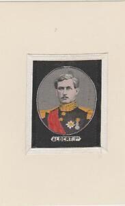 ancienne soie tissée représentant le roi albert 1er (belgique)
