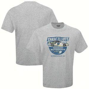 Chase Elliott # 9 Nascar 2021 Heather Gray Vintage Speed Shirt,  Large
