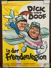 Vintage Laurel & Hardy *GERMAN Dick und Doof in der Fremdenlegion* Movie Poster
