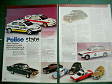 Model Police Cars and Blue Light vehicles model 5 page sides corgi toy Article