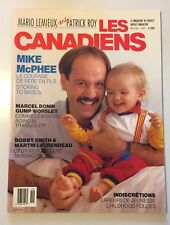 LES CANADIENS MAGAZINE - NHL HOCKEY MONTREAL - MIKE MCPHEE NOV/DEC 1988