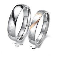 Bague, anneau, alliance gravé Real Love pour couple, multi tailles.