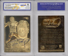 2005 TOM BRADY SCULPTED NFL NEW ENGLAND PATRIOTS 23KT GOLD CARD - GEM-MINT 10