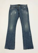 Sexy woman jeans donna usato bootcut svasati a zampa W29 tg 43 destroyed T6390