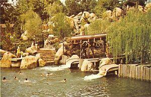 Walt Disney World postcard Splashy Ending in River Country water slide