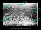 OLD LARGE HISTORIC PHOTO OF NEWPORT RHODE ISLAND, AERIAL VIEW OF THE CITY 1940 2