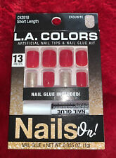 NEW L.A. COLORS NAILS ON! ARTIFICIAL NAIL TIPS & GLUE KIT