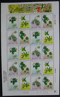 Korea Süd 2005 Färbepflanzen Pflanzen Plants IV Blüten 2457-60 Kleinbogen MNH