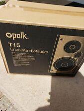 New Pair of Polk Audio T15 Bookshelf Speakers ( Black )