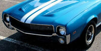 Rare Vintage Sport Race Car 1968 Rambler amx Javelin 1 18 Carousel Blue Metal 24