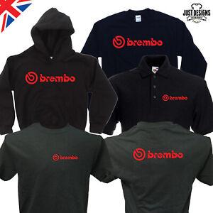 Brembo Black T-shirt Hoodie Hoody Polo Shirt Jumper Vest S-5XL Performance Brake
