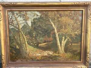 Amazing Early California Impressionist Plein Air Landscape Oil Painting Signed