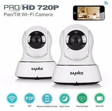 SANNCE 2x  Wireless WiFi HD 720P P&T Indoor CCTV Security IP Camera APP Remote