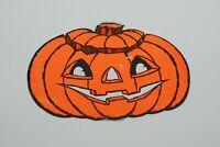 Vintage Large Pumpkin Halloween Die Cut Cardboard Decoration - FREE SHIPPING