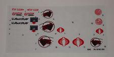 GI Joe Cobra Sea Ray Sticker Decal Sheet