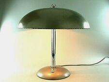BAUHAUS DESIGN HELO KAISER DELL SCHREIBTISCHLAMPE LAMPE LEUCHTE CHROM GRAU 1940e