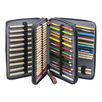 PU Leather120 Slot Pencil Holder Colored Pencil Comestic Holder Wrap Case #NE8Z