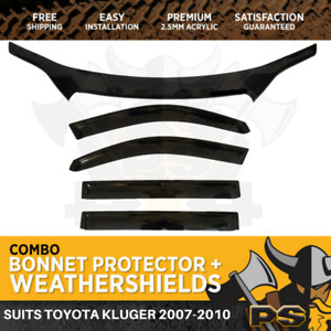 Bonnet Protector & Window Visors to suit Toyota Kluger 2007-2010 Weathershields