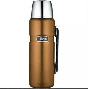 Thermos Stainless King Stainless Steel Copper Vacuum Flask With Handle 1.2L
