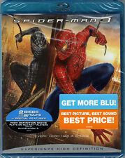 SPIDER-MAN 3 The MOVIE Sequel on a 2 Disc BLU-RAY of MARVEL COMIC Book SUPERHERO