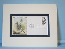 State Bird & Flower of New Mexico - Roadrunner & Yucca Flower & First Day Cover