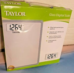 400LB Glass Digital Bathroom Scale to Weigh Weight Taylor Precision Products NEW