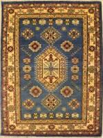 Rugstc 4x6 Senneh Chobi Ziegler Blue Area Rug,Natural dye, Hand-Knotted,Wool