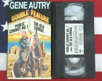 Public Cowboy No. 1 & The Old Corral VHS Gene Autry Double Feature Western Video