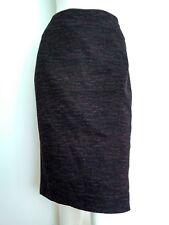 Hobbs Mélange Laine Jupe Crayon Taille 14 -- Très bon état -- longueur genou marron/noir entièrement doublé