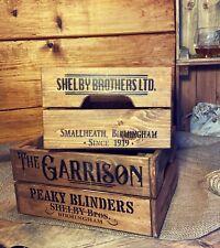 Wooden Peaky Blinders Garrison Crate Box Storage